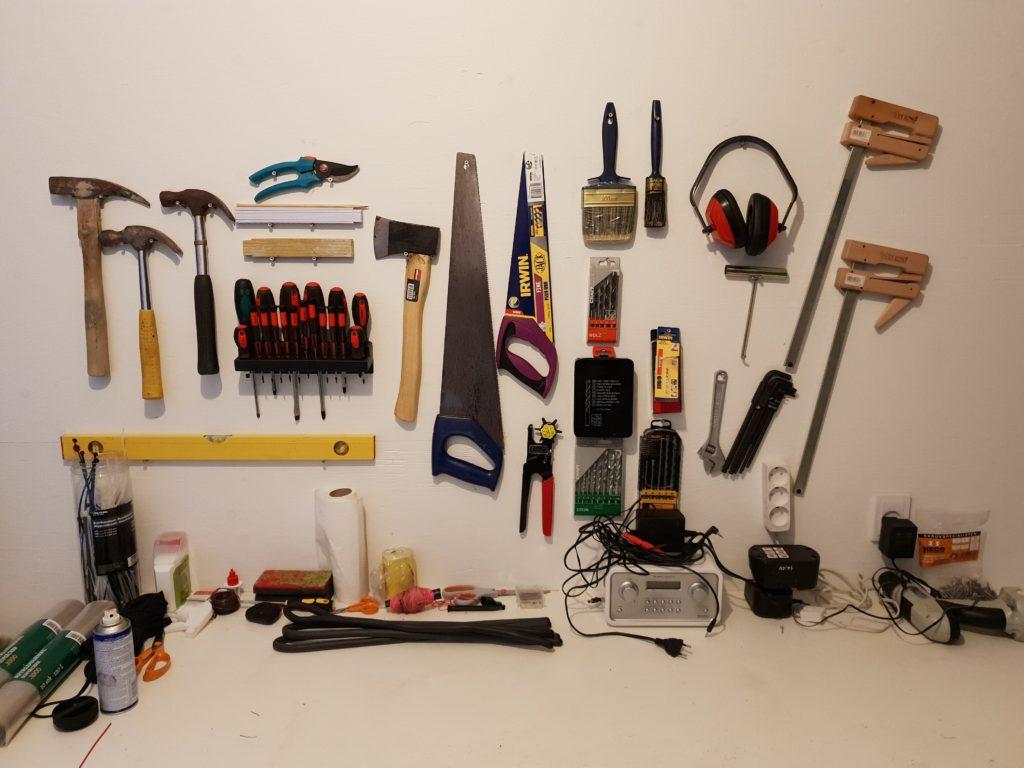 Ophæng af værktøj